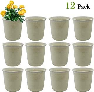 SAND MINE 4.7 Inch Plastic Round Succulent Plant Pot, Nursery Flower Pots, Cactus Plant Pot Flower Pot, Pack of 12