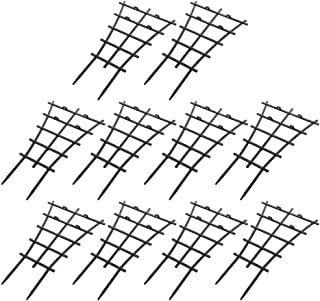 DIY Garden Plant Climbing Trellis,Potted Plant Growing Support,Garden Trellis for Mini Climbing Plant Pot Support Leaf Trellis (10 Pack)
