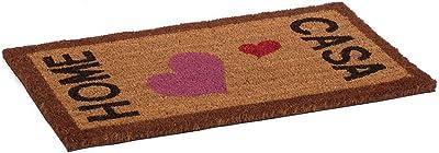 Catral 71070056 Felpudo de Coco Sweet Home, Fibra, Rosa y Negro, 70 x 40 cm