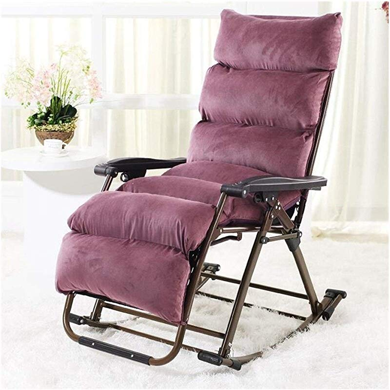 Carl Artbay Footstool Fuchsia Cotton Cover Black Rocking Chair Chaise Longue Happy Chair Folding Lunch Break Chairs Home