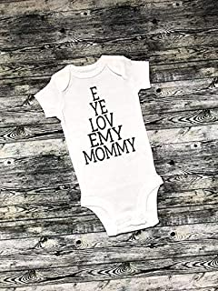 I Love My Daddy, I Love My Mommy, Optometrist baby gifts,eye chart, optometrist jokes, baby bodysuit, eye love daddy, eye love mommy, Optometry bodysuits