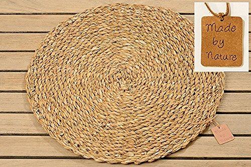 Home Collection 4 Tischsets Platzsets aus Seegras Natur D40cm rund
