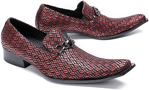 Spitze Schuhe rot gewebt Frühjahr und Herbst atmungsaktive Herrenschuhe Herrenschuhe Herrenschuhe  Online zum besten Preis