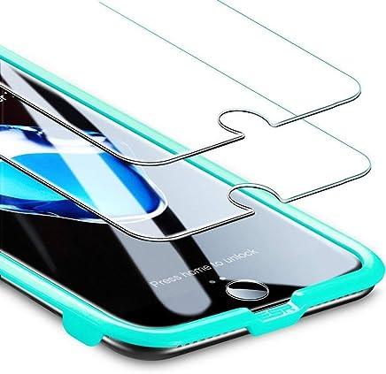 """ESR Protector Pantalla para iPhone 8/7/6s/6 [2 Piezas] [Fácil de Instalar] [Garantía de por Vida], Cristal Templado 9H Dureza [3D Touch Compatible], Anti-Huella para Apple iPhone 8/7/6S/6 de 4,7"""""""