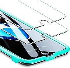 """ESR Panzerglas Folie [2 Stück] Displayschutz kompatibel mit iPhone 8/7/6/6S - 9H Display Schutzfolie [Face ID kompatibel] mit Montageset ohne Blasen für das iPhone 8/7/6/6S 4,7"""""""