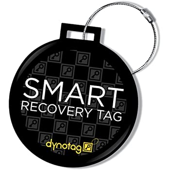 Dynotag® Web Enabled QR Smart Deluxe Steel Luggage Tag