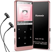 $21 » MP3 Player with Bluetooth 5.0, Hommie Touch Button 16GB HiFi Lossless Sound Music Player Support FM Radio, Video, Voice Re...