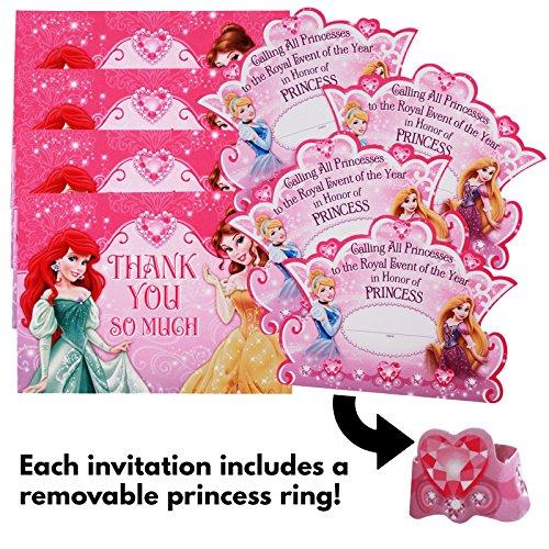 Disney Princess Dream Party Invitations &Thank-You Postcards (8 each) by Hallmark