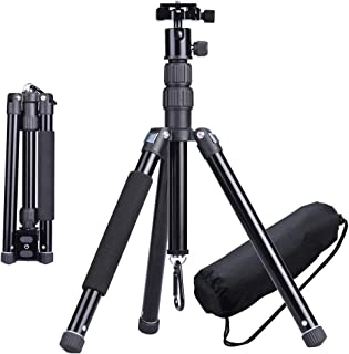 CHIHEISENN Professional Travel Compact Lightweight Aluminum Alloy Tripod Kit with Ball Head,Quick Release Plate,Aluminum Legs,Carring Bag,Phone Holder for DSLR Camera, Video Camcorder, Cellphoe