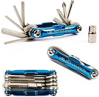 VeloChampion Premium Quality MLT10 Bike Multi Tool - 10-in-1 Multi-Function Cycling Maintenance Tool - Portable Reliable, ...