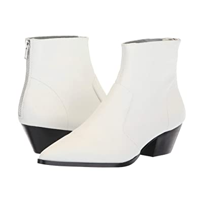 Steve Madden Cafe Bootie (White Leather) Women