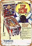 Carlena Cartel de Metal 1975 con la Mejor puntuación de la máquina de Pinball de 8 x 12...