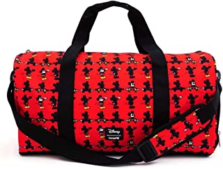 Loungefly X Disney Mickey Parts AOP Nylon Duffle Bag in Red - Everyday Carryall