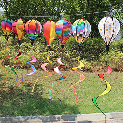 Hot Air Balloon Windmill Spinner Toy Garden Lawn Yard Ornament Outdoor Party Favor Supplies, 1PC Random Color
