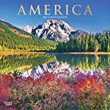 America 2021 12 x 12 Inch Monthly Square Wall Calendar with Foil Stamped Cover, USA United States Scenic Nature