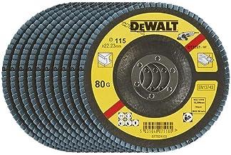 DeWalt 115mm FLAP DISC - TYPE 29 ANGLED - D115XG80, Yellow/Black, DT3257-QZ