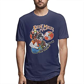 Steve Miller Band Vintage Soft Tee,Funny Men's Cool Style Athletic Casual T-Shirt