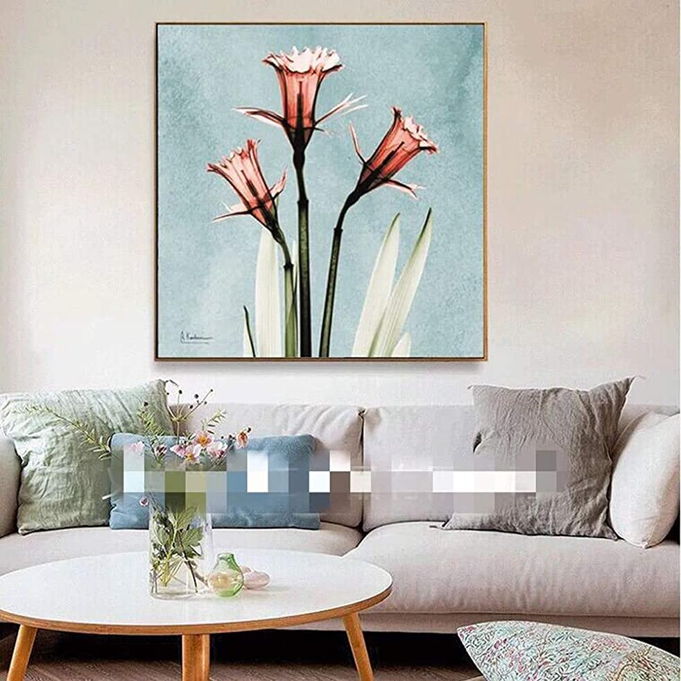 Flower Diamond Painting DIY Point Drill Cross Stitch Home Living Room Bedroom Wall Decoration (Morning Glory)