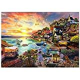 Puzzle da 1000 pezzi, puzzle per adulti, impossible puzzle, gioco di abilità colorato, gioco di abilità per tutta la famiglia, puzzle per adulti, ragazze al mare