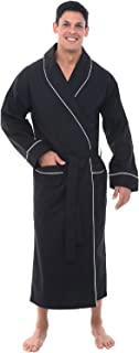 Alexander Del Rossa Men's Lightweight Cotton Robe, Solid...