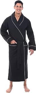 Alexander Del Rossa Mens Cotton Robe, Lightweight Woven Bathrobe