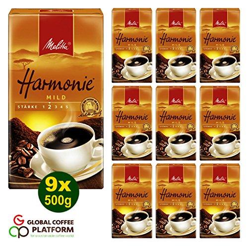 Melitta HARMONIE mild Filterkaffee 9x 500g (4500g) - Melitta Café gemahlen