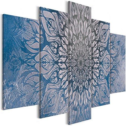 murando Handart Cuadro en Lienzo Mandala 200x100 cm 5 Piezas Cuadros Decoracion Salon Modernos Dormitorio Impresión Pintura Moderna Arte Oriente p-A-0029-b-p