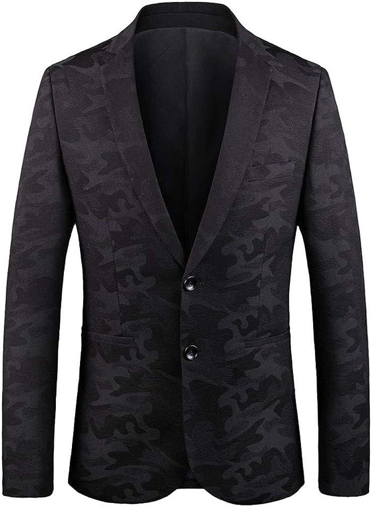 Men's Black Floral Business Blazer Regular Fit Peak Lapel Casual Jacket Two Buttons Spring Winter Coat