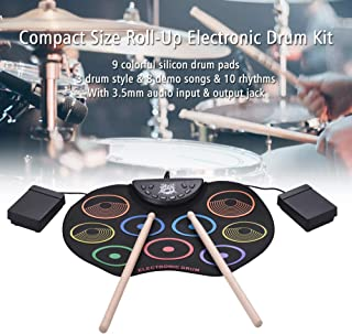 Meiniuniu Tambor de la Mano del Color redoble de Tambor electrónica, los niños Principiantes Instrumento de percusión USB