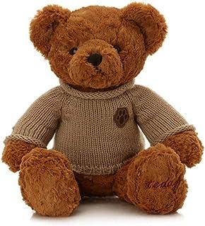 ASHDZ Plush Toys, Footprints Sweater Teddy Bear, Plush Toy Bear Doll, Birthday Present, Light Brown / Gold, Best Gift Plus...