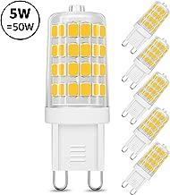LE Lighting EVER Ampoule LED G9, 5W Blanc Chaud 3000K,AC 220-240V, Culot G9 Standard, 360°Angle de faisceau, Equivaut à Ampoule Halogène 50W, 340lm, Lot de 5