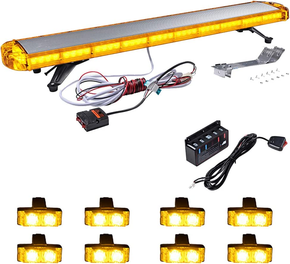 Combo 47 inch 88 LED Roof specialty shop Top + Emergency W In a popularity 8pcs Light Bar 2-LED