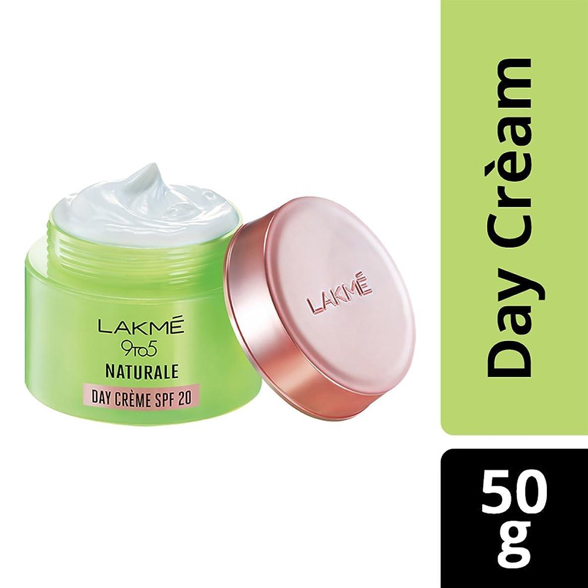 持続する散らすステープルLakme 9 to 5 Naturale Day Creme SPF 20, 50 g