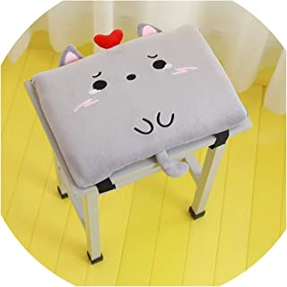 SUN DANCE Cartoon Cushion Classroom Bench Mat Small Chair Pad Rectangular Memory Cotton Fart Pad Chair Cushion Soft,Doodle Cat Memory Cotton Cushion,(Suitable for Stool) Double Buckle STU