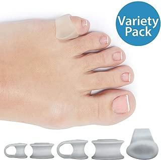 NatraCure Gel Toe Separators (w/Loop) Variety 6 Pack - (Size: 2 Small, 2 Medium, 2 Large) - Toe Spacers