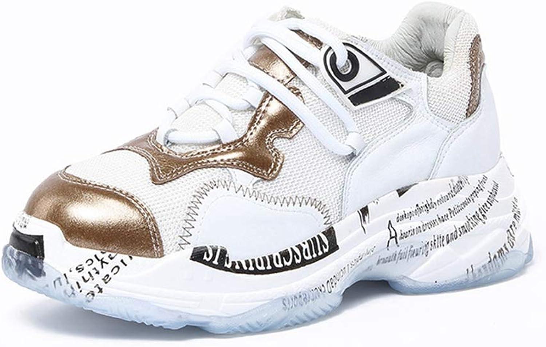 U MAC kvinnor Hidden Heel Wedges skor Lättlätta andningsbar andningsbar andningsbar plattform Vulcanize Chunky gående skor  hög kvalitet och snabb frakt