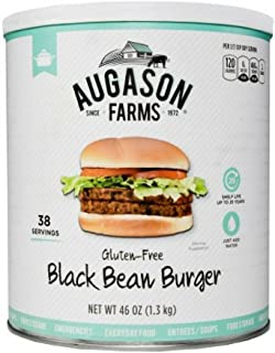 Augason Farms Gluten-Free Black Bean Burger, 46 oz (1 Pail)