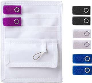 ADC 216-2MC Pocket Pal II Medical Instrument Organizer/Pocket Protector, White with 4 Sets of Accents Tabs, Black/White/Royal Blue/Purple (Pack of 2)