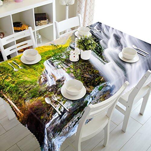 Qiao jin Tischdecke Rechteckige Tischdecke - 3D personalisierte Tischdecke PG01063 - Umweltfreundlich und geschmacklos - Digitaldruck Wasserdicht (Größe   Square -228cm228cm)