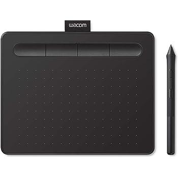 Wacom Intuos S Tableta Gráfica Negra – Tableta Gráfica Portátil para pintar, dibujar y editar photos con 1 software creativo incluydo para descargar*, compatible con Windows & Mac
