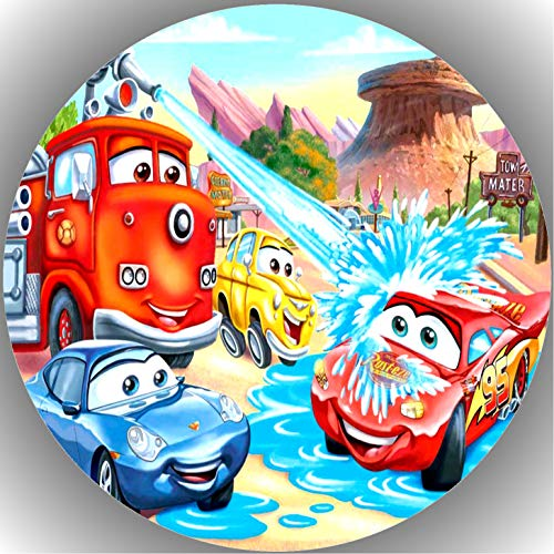 Fondant Tortenaufleger Tortenbild Geburtstag Disney's Pixar Cars T35