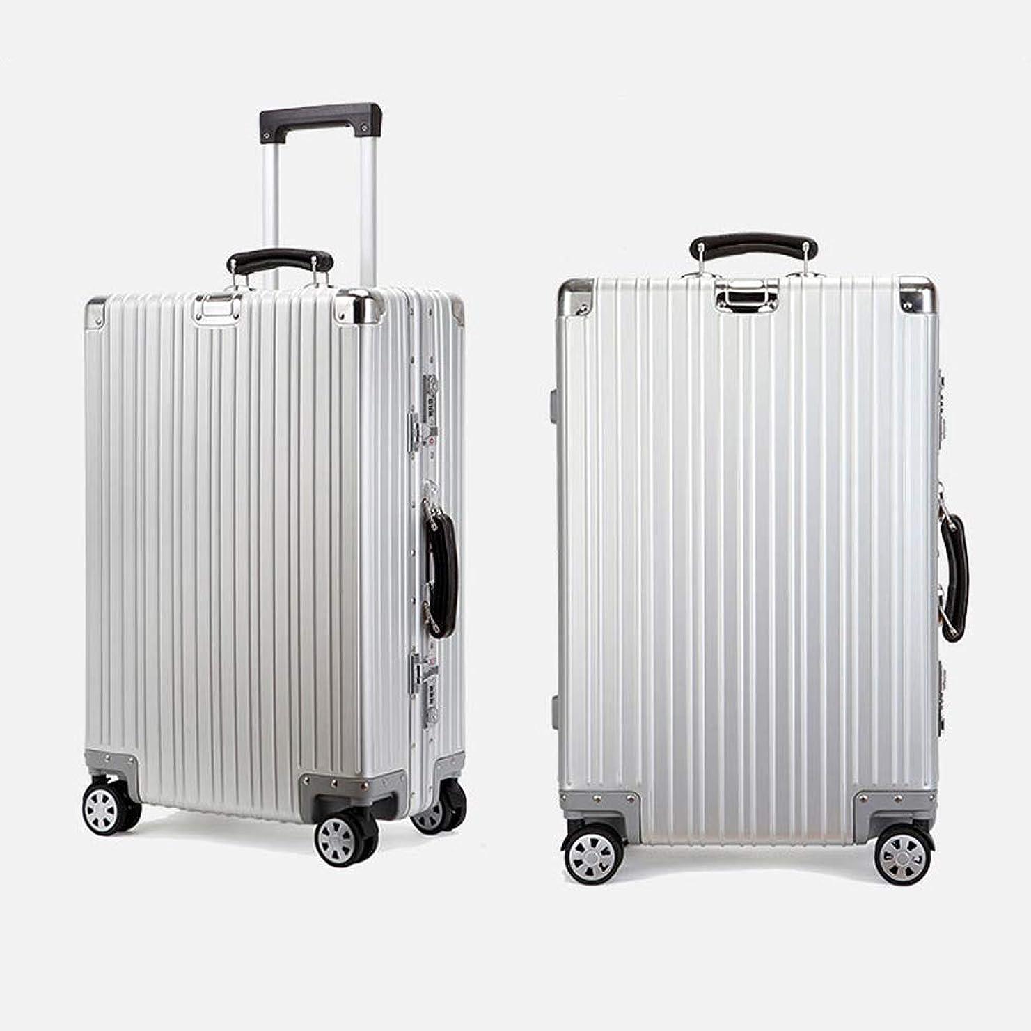 熟考するぞっとするような苦行アルミ スーツケース ダブルキャスター?静音 キャリーケース TSAロック搭載 軽量 無段階調節 キャリーケース 出張 旅行 機内持ち込み可 大容量 静音8輪