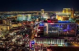 OfinaBiz New Rompecabezas de 1000 Piezas - Las Vegas Strip North - Juguetes educativos Rompecabezas Educativo para niños/Adultos