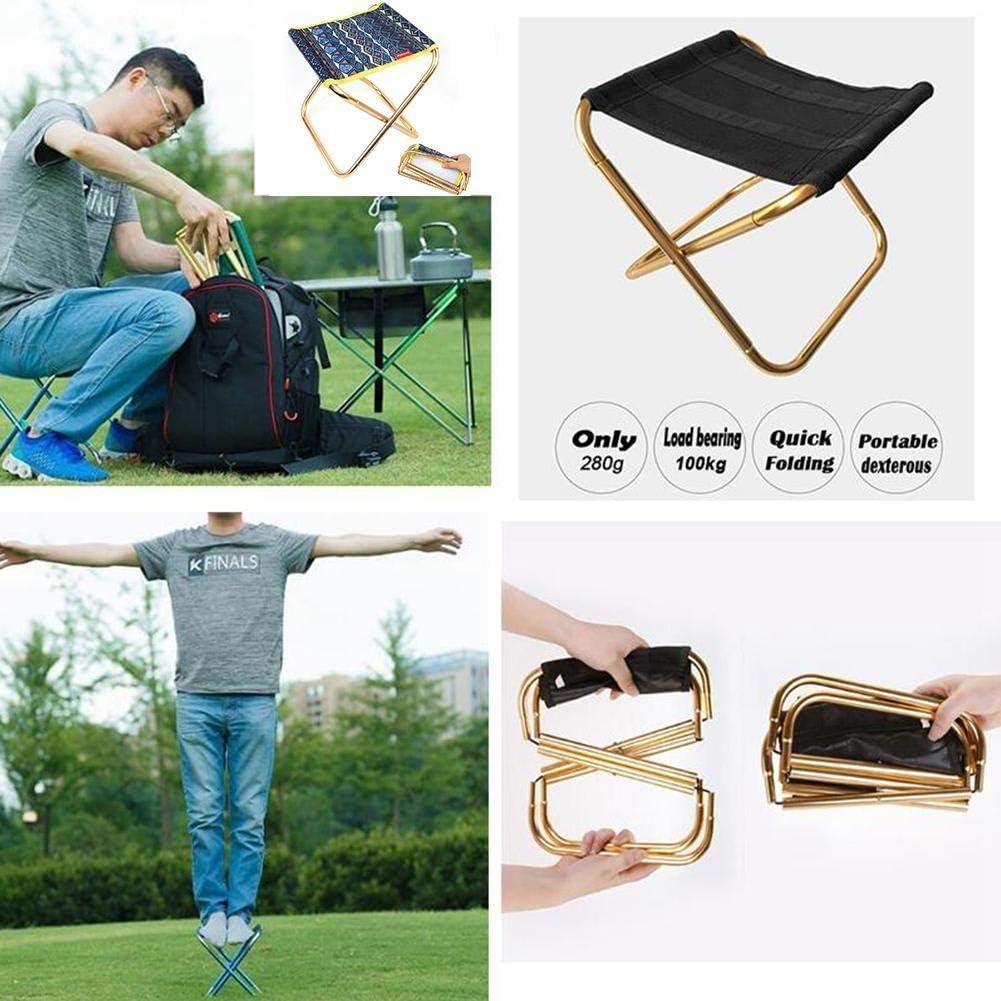 Linkland Chaise pliante portable légère avec sac de transport, pour camping, camping, plage, voyage, pique-nique, barbecue, etc. l C