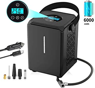 WizPower Air Compressor for Car, Portable 150PSI Tires Inflator Cordless Auto Air Pump 12V/ Rechargeable for Wheel, Motorc...