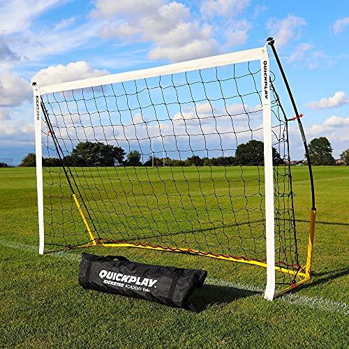 QUICKPLAY Kickster Fun Goal 6x4' – The Original Kickster Goal | Portable Football Goal for the Garden or Park |includes Football Net and Carry Bag [Single Goal]