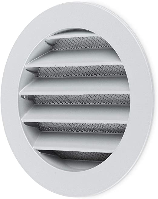 Chrome Poli Air Vent Grille 165 mm x 100 mm Métal Mur Ventilation Housse