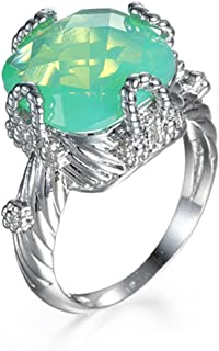 ANBOVER Unisex Cubic Zirconia Opal Ring