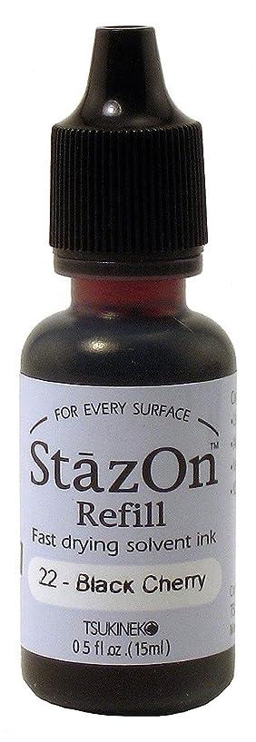 Tsukineko 1/2 Fluid Ounce StazOn Multi-Surface Inker, Black Cherry