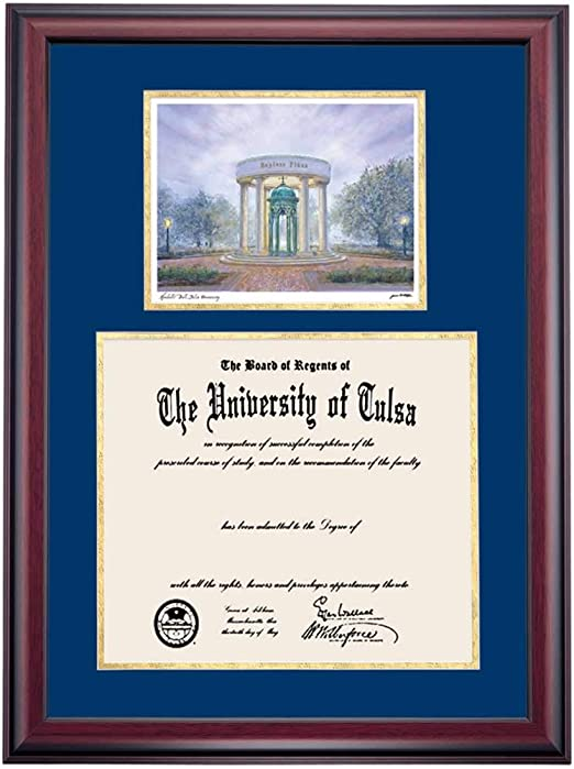 Amazon Com Ocm Diploma Frames The University Of Tulsa Golden Hurricane Displays Diploma Certificate Navy Gold Mat Home Office Office Professional Education Framed Diploma Graduation Gifts